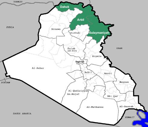 Iraq-Kurdistan-map