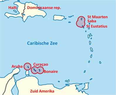 Kaart Caribisch gebied