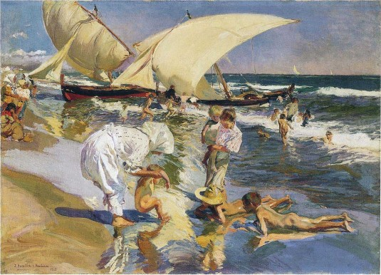 JOAQUIN-SOROLLA-Y-BASTIDA-VALENCIA-BEACH-IN-THE-MORNING-LIGHT